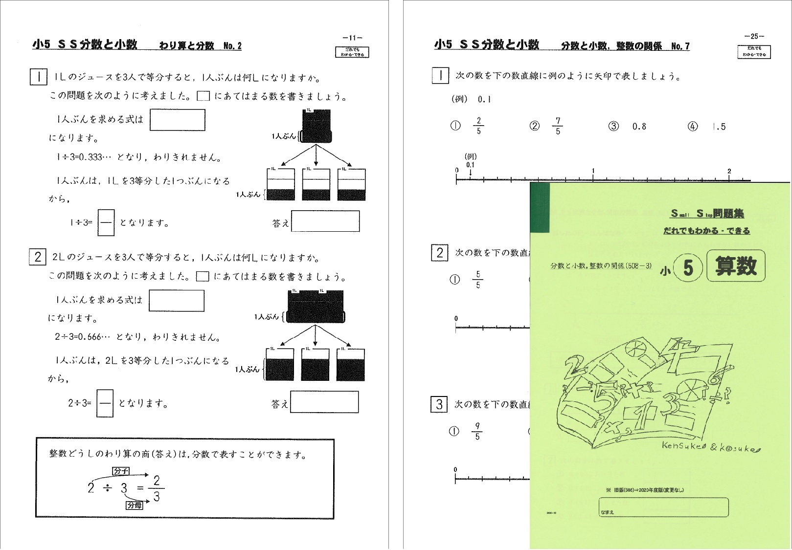SS分数と小数、整数の関係