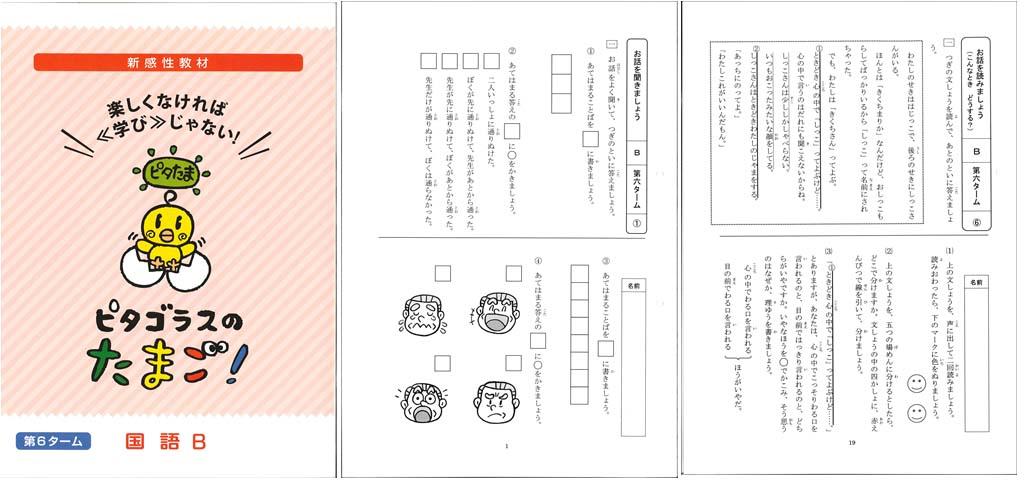 ピタゴラスのたまご国語B第6ターム