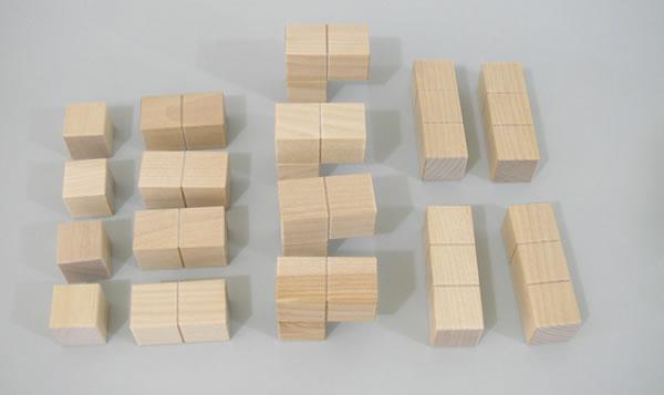 つみき教材 知恵の積み木123